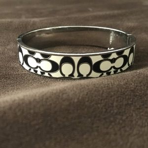 Coach black and white bracelet